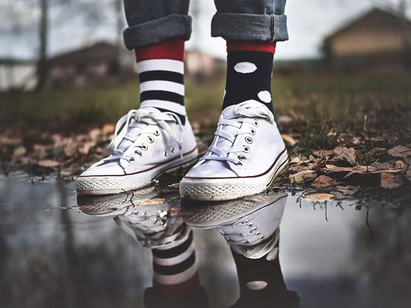 shox farebne vesele ponozky