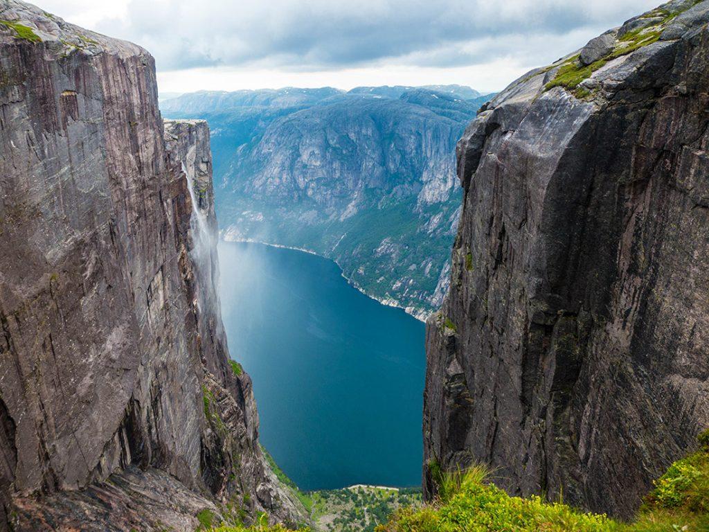 pohľad na lysefjord