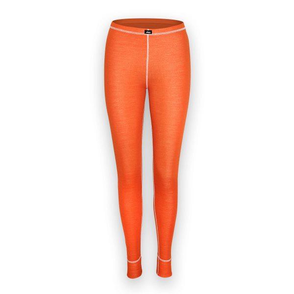 merino spodky termo damske oranzova z predu