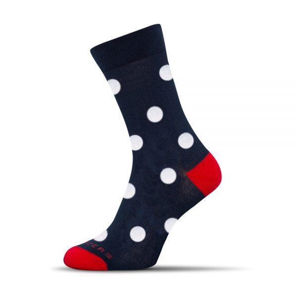 modré - biele bodky ponozky shox